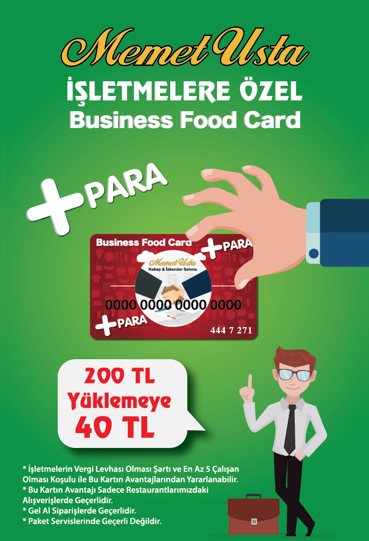 Business Food Card